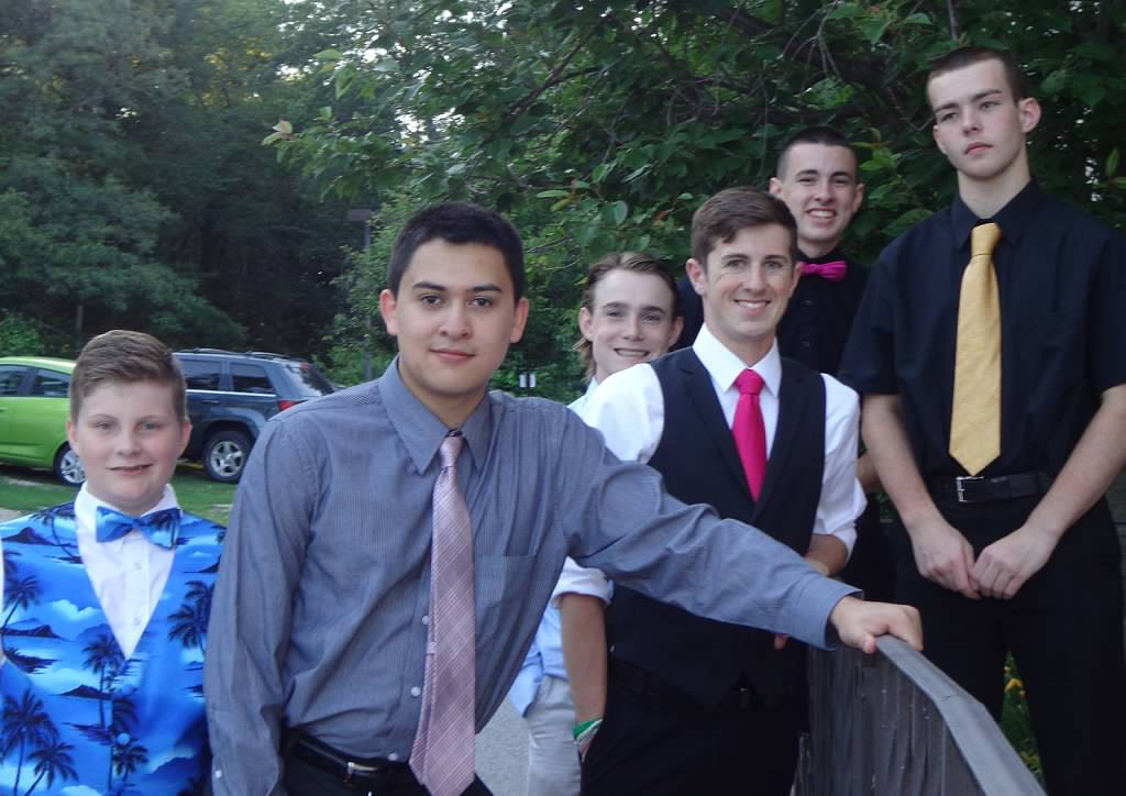 LC Hockey Team Escort Dates at the New England Pediatric Care Semi-Formal